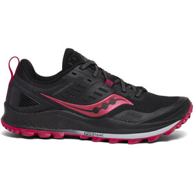 saucony Peregrine 10 Shoes Women black/barberry